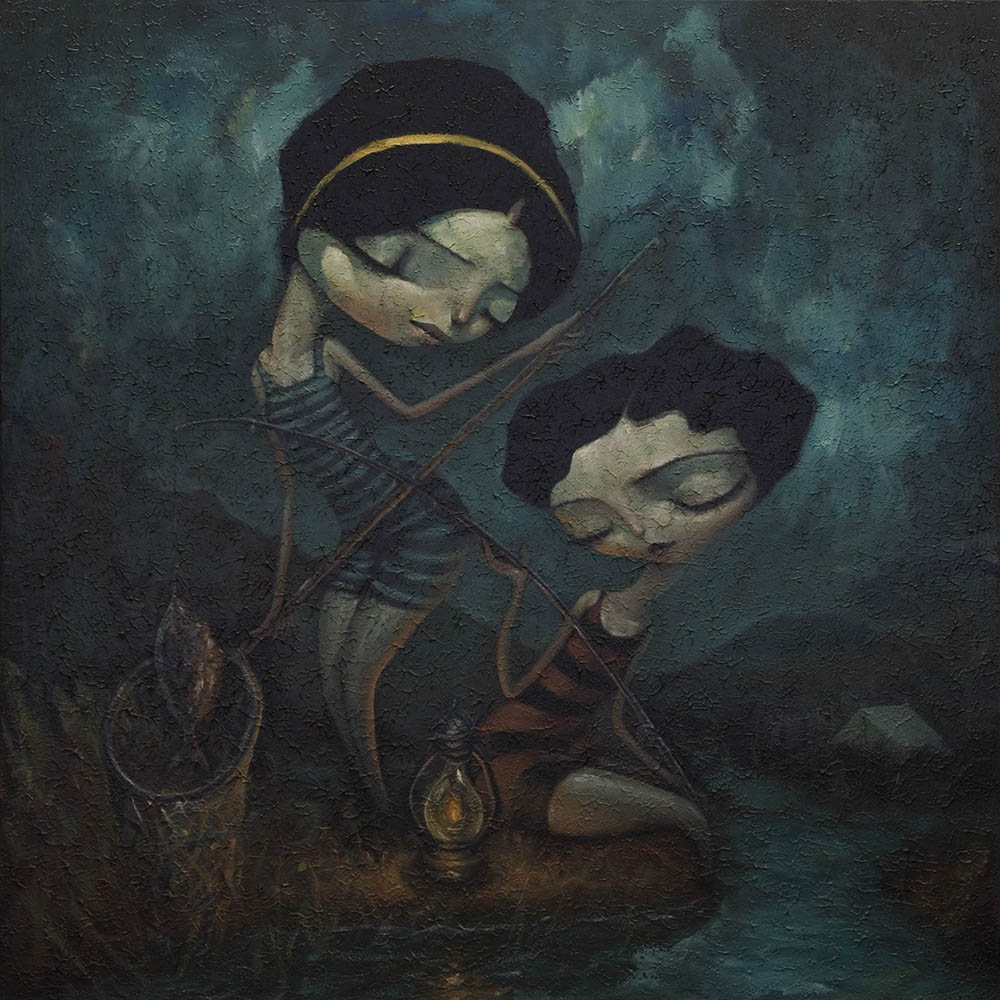 Fishing Girls By Tony Giles - SOLD