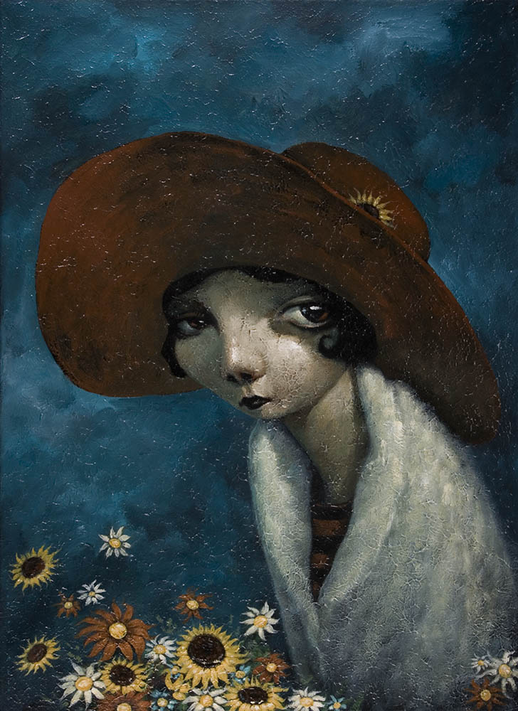 Flower Girl By Tony Giles - SOLD