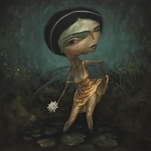 Last Lotus Flower By Tony Giles - SOLD