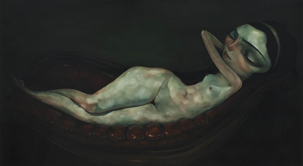 Reclining Nude Large By Tony Giles