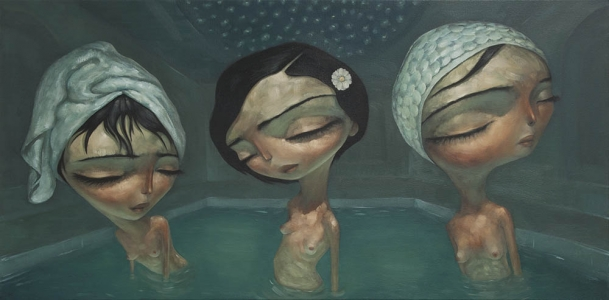 Turkish Bath By Tony Giles - SOLD