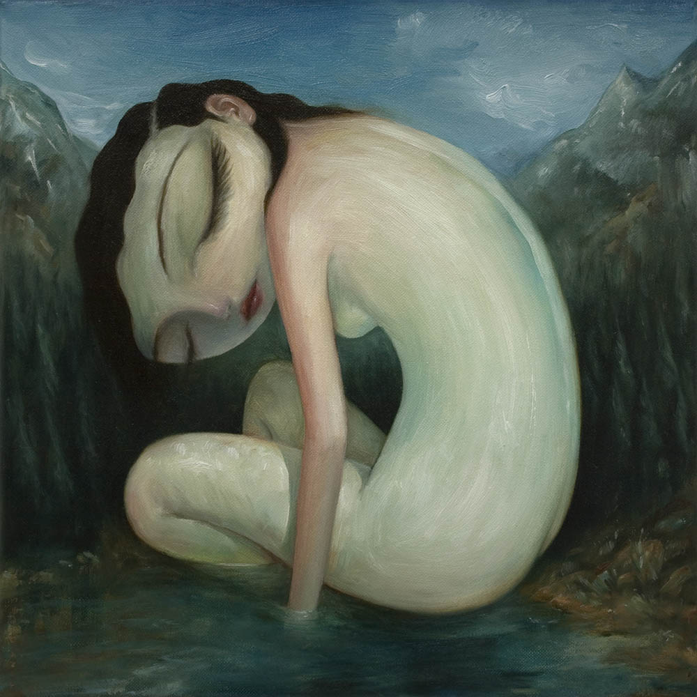 "Wilderness Girl By Tony Giles - SOLD - ""Wilderness"" Group Exhibition, Auguste Clown Gallery, Melbourne, 2014"